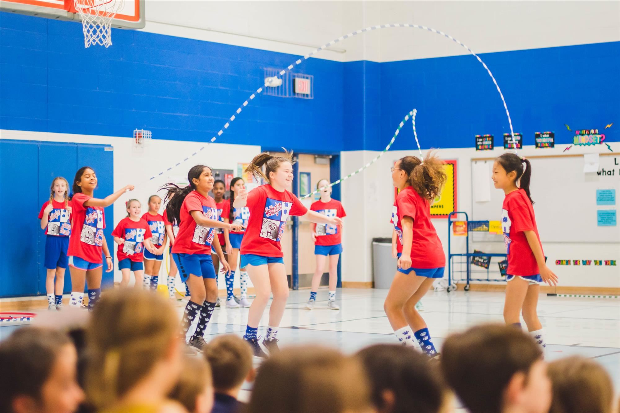 jump rope team performs