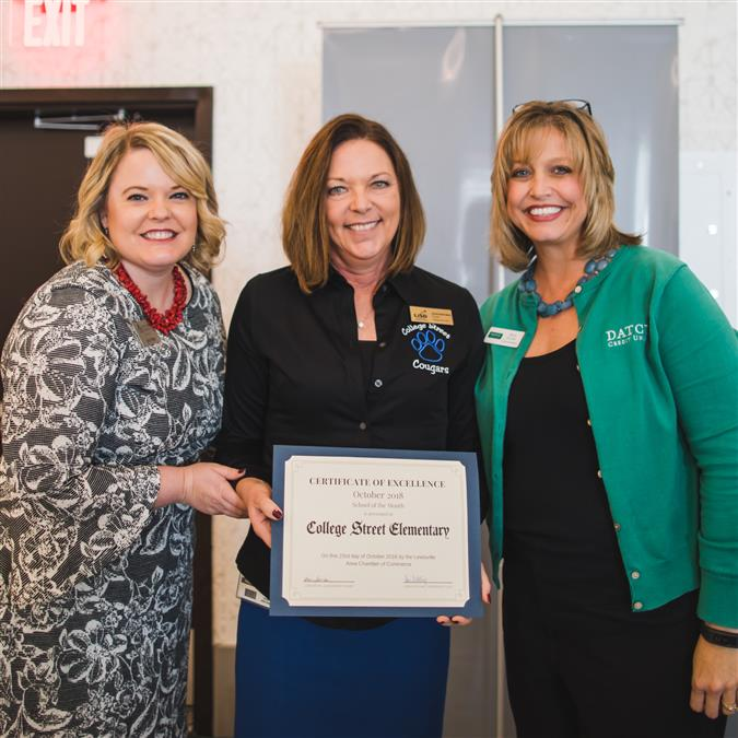 College Street Elementary Named Lewisville Area Chamber of Commerce/DATCU October School of the Month