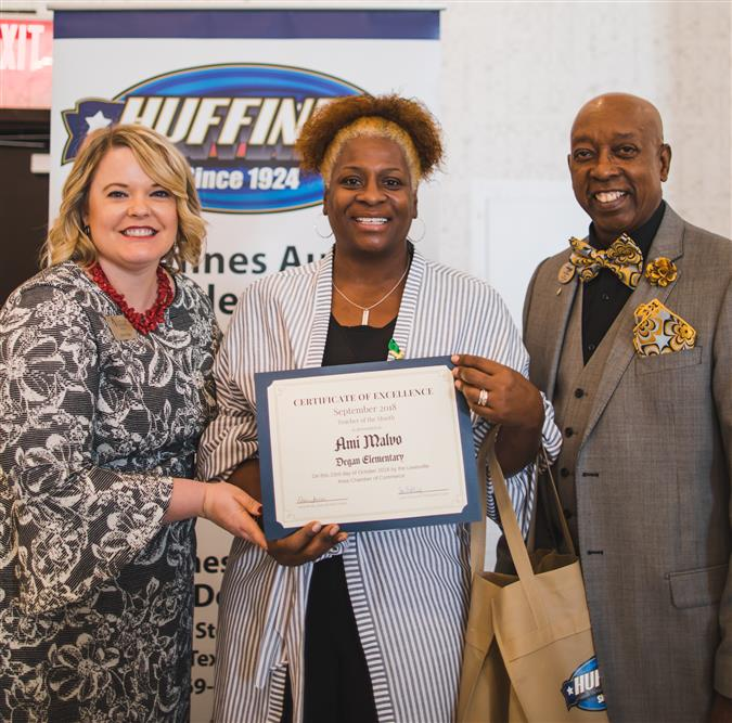 Degan Elementary's Malvo Named Lewisville Area Chamber of Commerce/Huffines Auto Dealership September Teacher of the Month