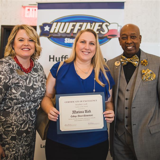 College Street Elementary's Rick Named Lewisville Area Chamber of Commerce/Huffines Auto Dealership October Teacher of the Month