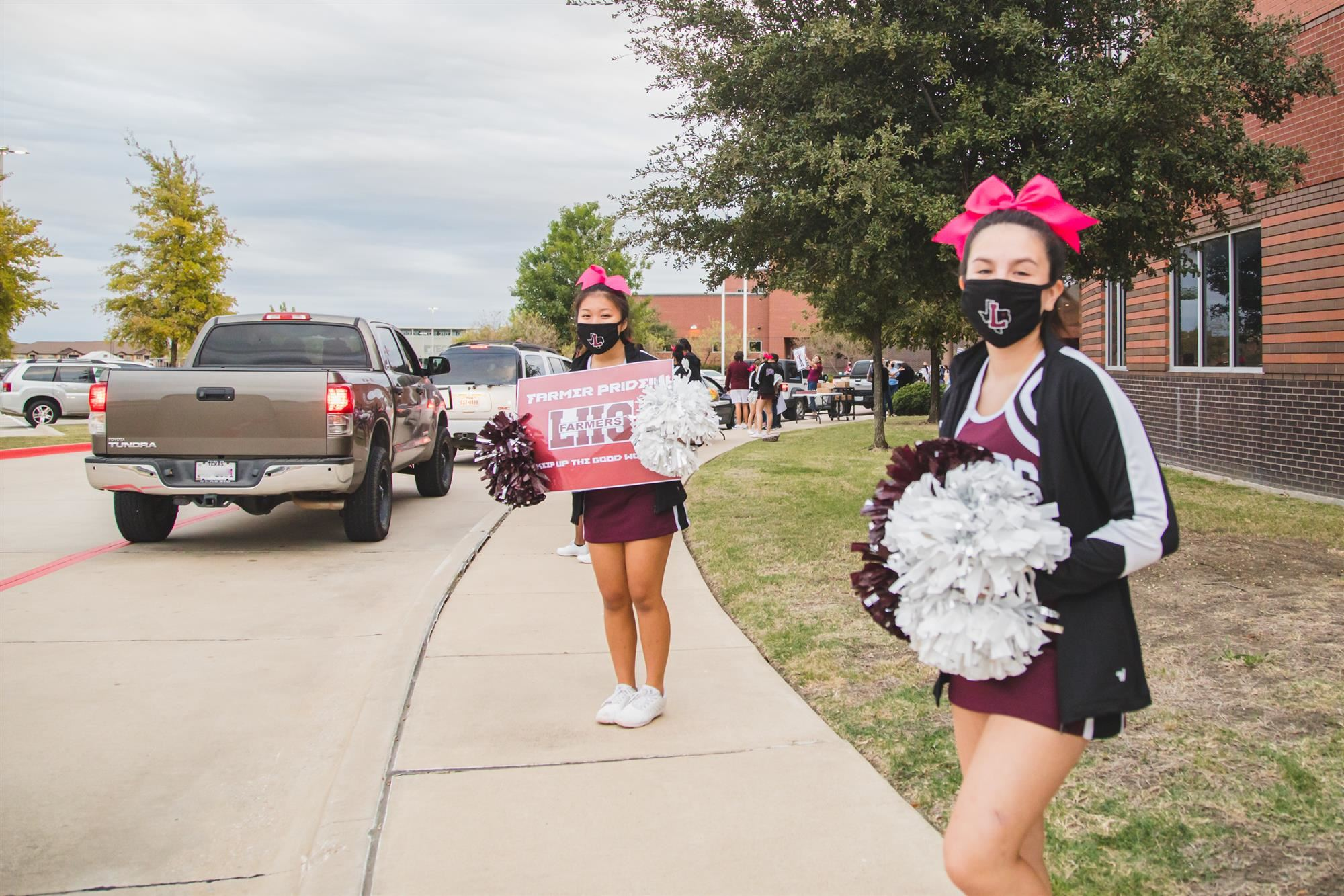 LHS Harmon hosted drive-thru parade for virtual students.