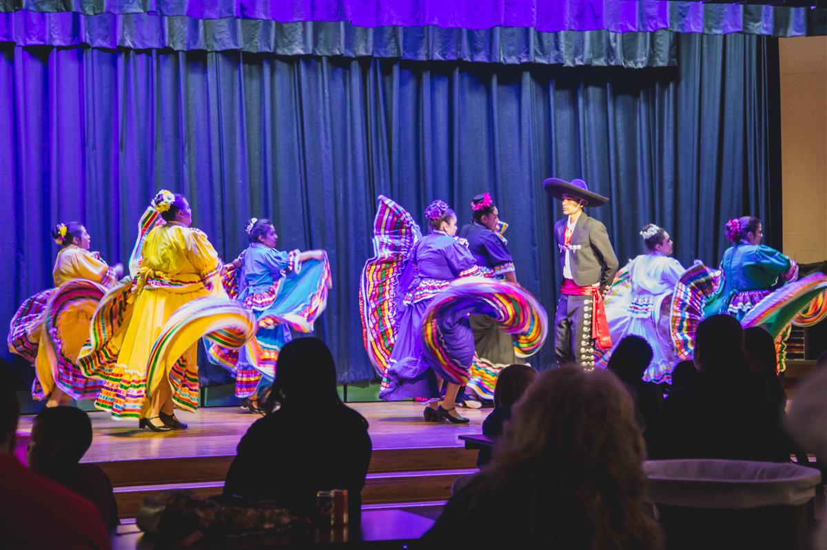 The Latino Club from Lewisville High School performed at Parkway's second annual Chili Cook-off.