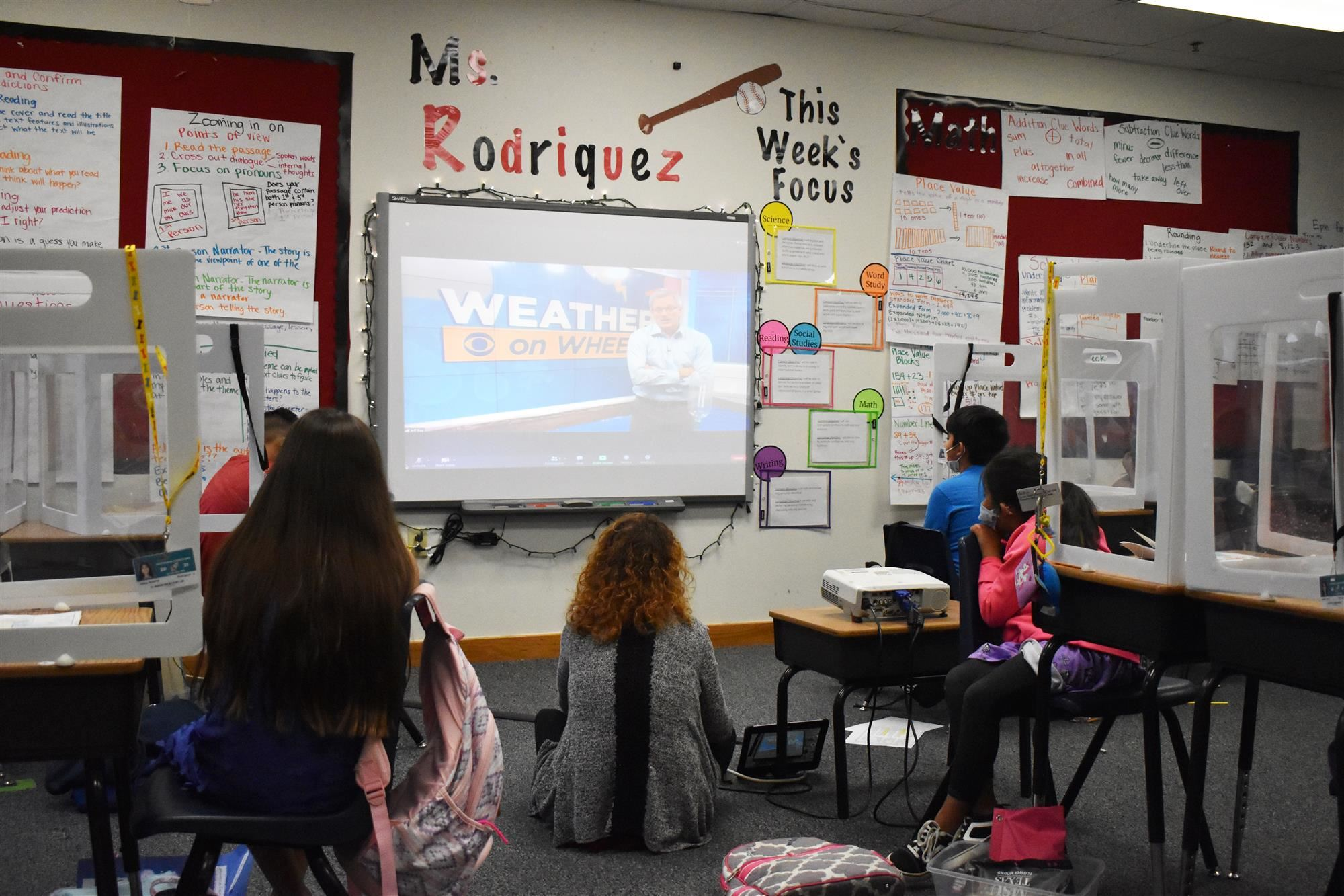 Weather on Wheels presentation in class