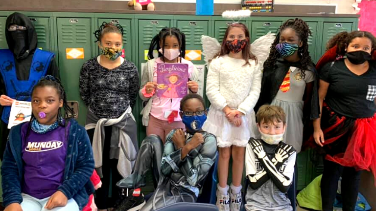 At Lewisville Elementary, Characters Come Alive