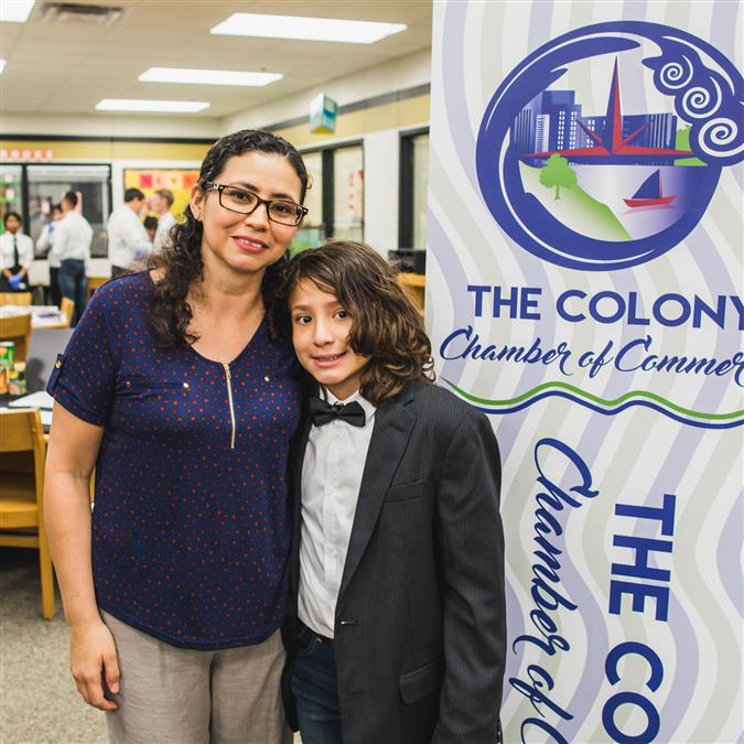 Peters Colony Elementary's Rubio Named The Colony Chamber of Commerce/DATCU Credit Union April Student of the Month