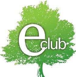 Green tree with the E-Club logo in white.