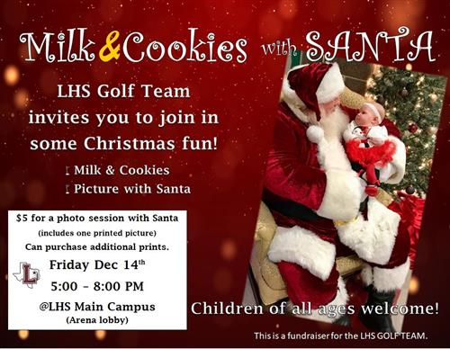 LHS Golf - Milk & Cookies with Santa!