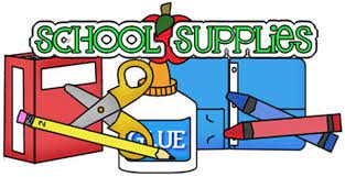 VRE School Supply List 2018-19