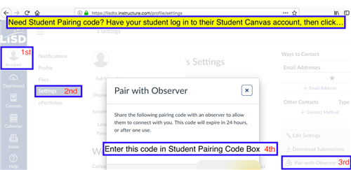 Canvas Parent Pairing Code
