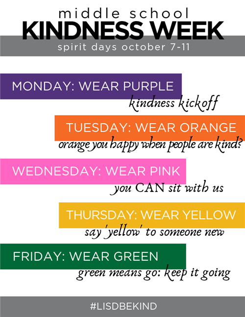 Kindness Week attire color - click here