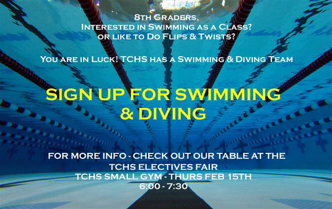 Sign Up for Swimming and Diving