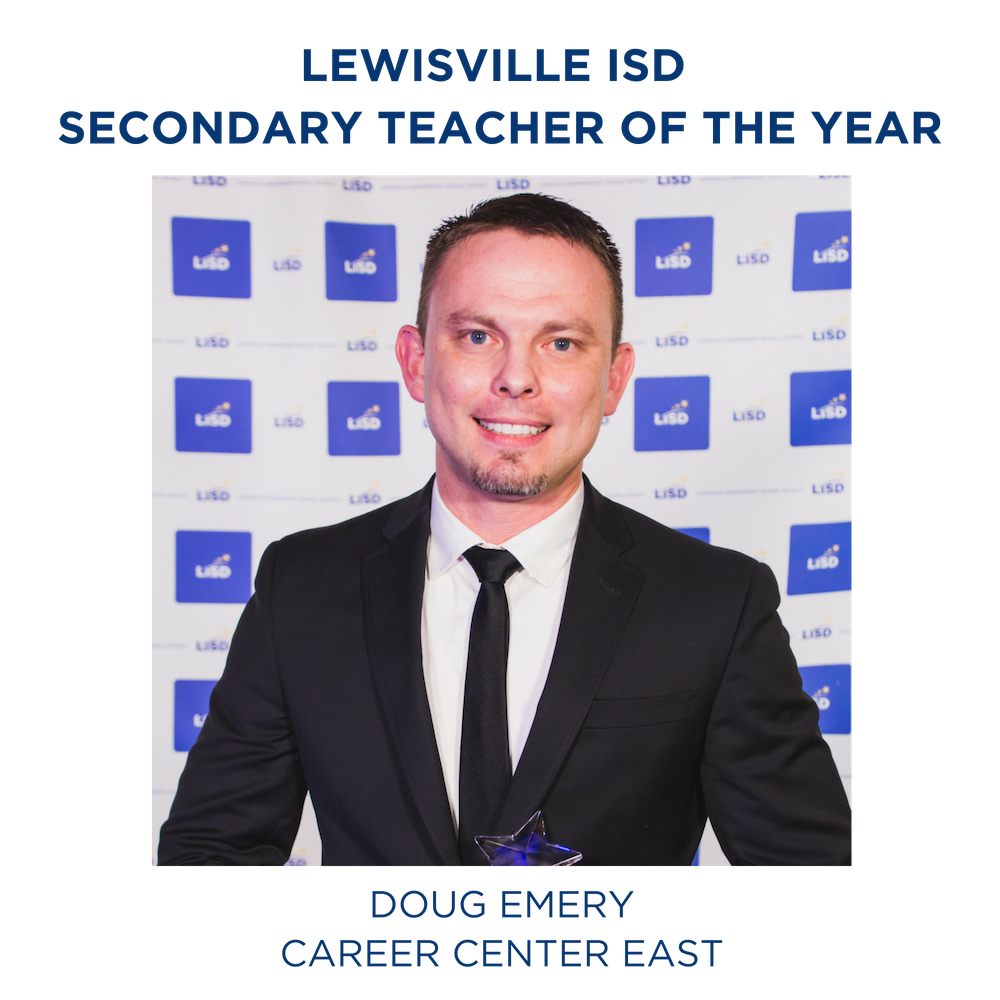 2019 LISD SECONDARY TEACHER OF THE YEAR DOUG EMERY