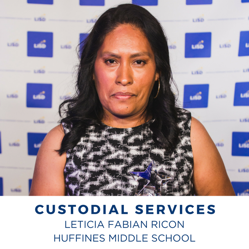 2019 CUSTODIAL SERVICES LETICIA FABIAN RICON HUFFINES MIDDLE SCHOOL