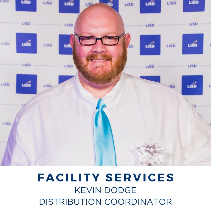 2019 FACILITY SERVICES KEVIN DODGE WAREHOUSE COORDINATOR