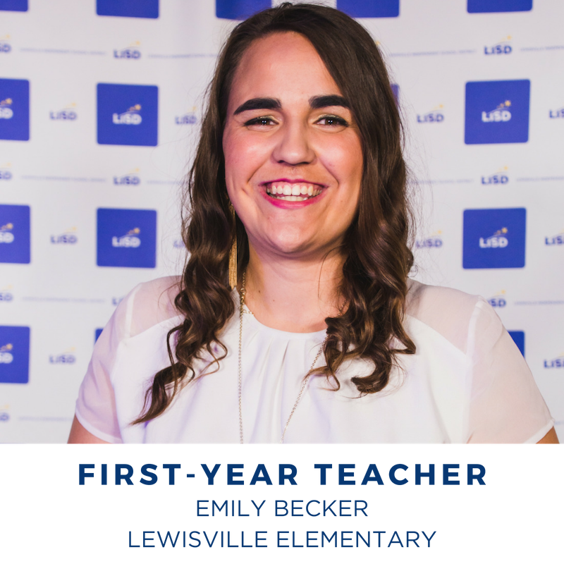 2019 FIRST-YEAR TEACHER OF THE YEAR EMILY BECKER LEWISVILLE ELEMENTARY
