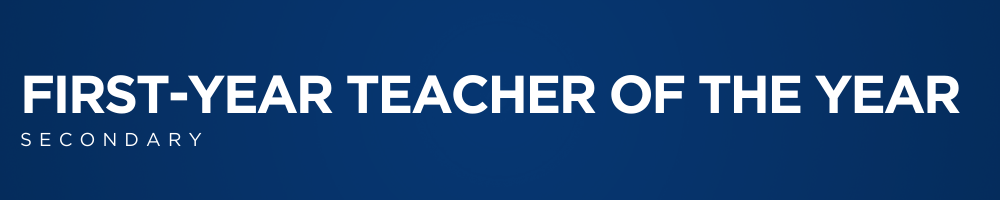 FIRST-YEAR SECONDARY TEACHER OF THE WEB BANNER