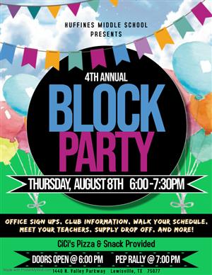 4th Annual Block Party