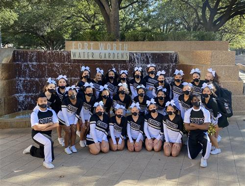 TCHS Cheer at the 2021 UIL Cheer Competition