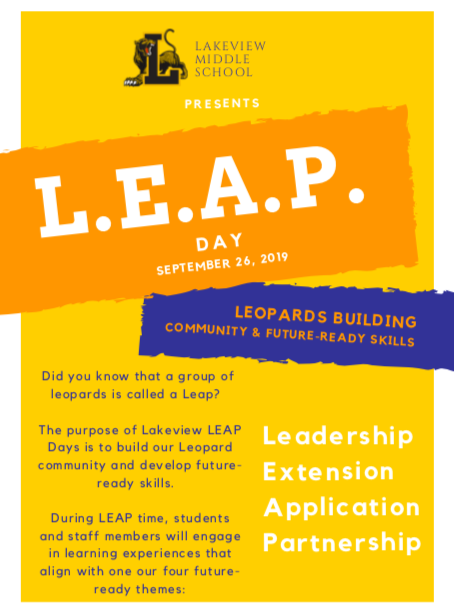 September 26 LEAP Day!  Sign up here!!!