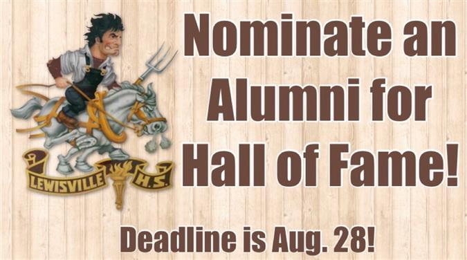 NOMINATE AN ALUMNI FOR HALL OF FAME!
