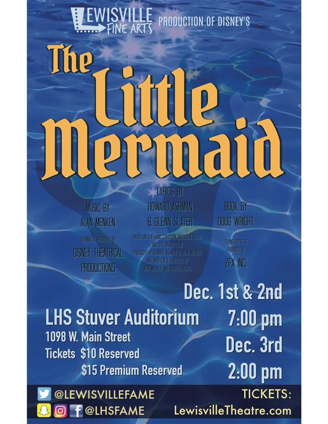 "LHS THEATRE DEPARTMENT PRESENTS ""THE LITTLE MERMAID"""