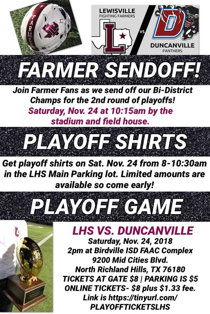 FOOTBALL PLAYOFF GAME INFO