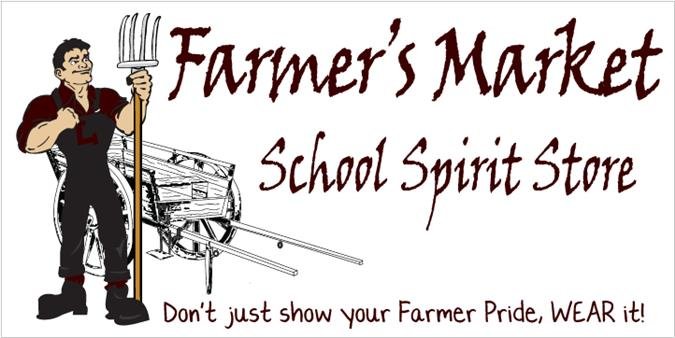 SPIRIT WEAR HERE!  Farmer's Market School Spirit Store - CLICK HERE (Large file so it takes a little time to load)