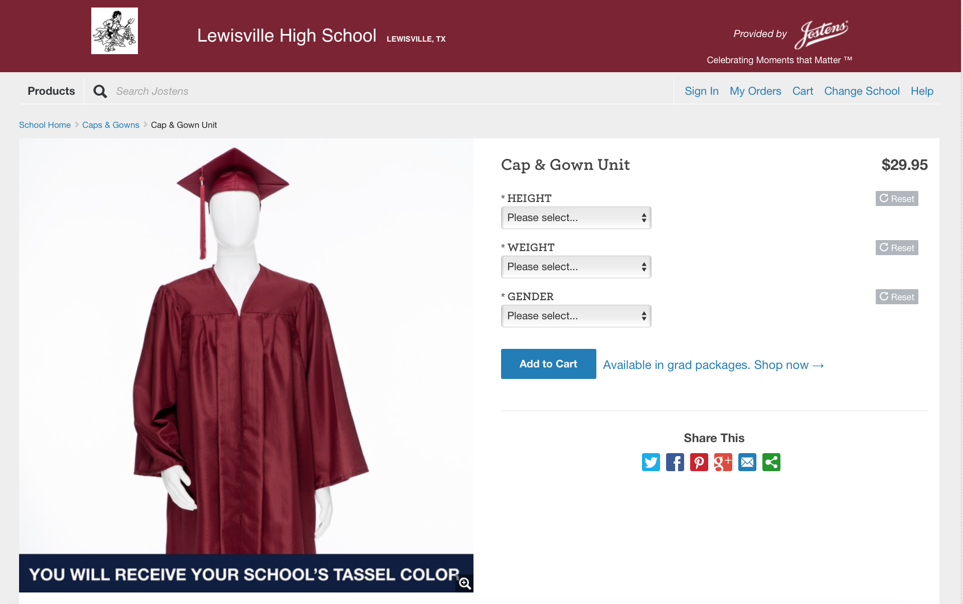 SENIORS - LAST CHANCE TO BUY CAPS AND GOWNS!