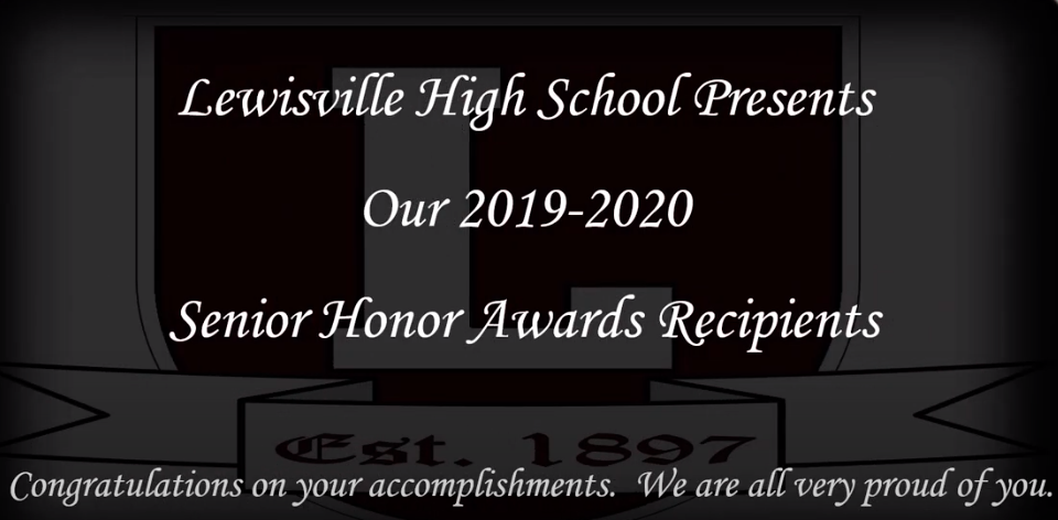 Senior Honor Award Recipients for 2019-20