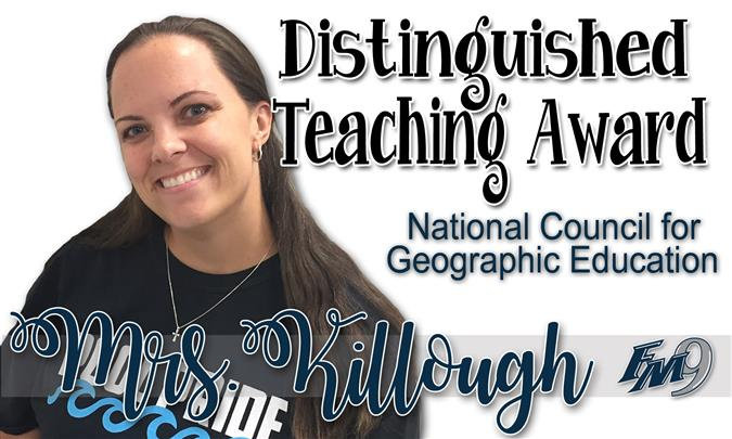 Mrs. Killough Receives NATIONAL Award!