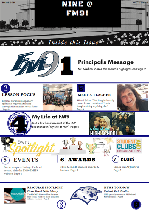 Nine @FM9 - March Newsletter