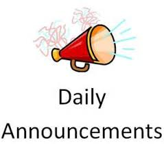 Daily Announcements 2018-2019