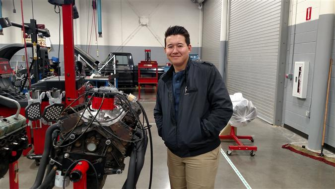 Auto Tech Student Certified as ASE GI Student