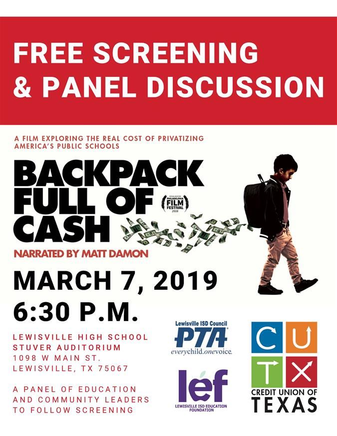 "Free Screening of ""Backpack Full of Cash"""