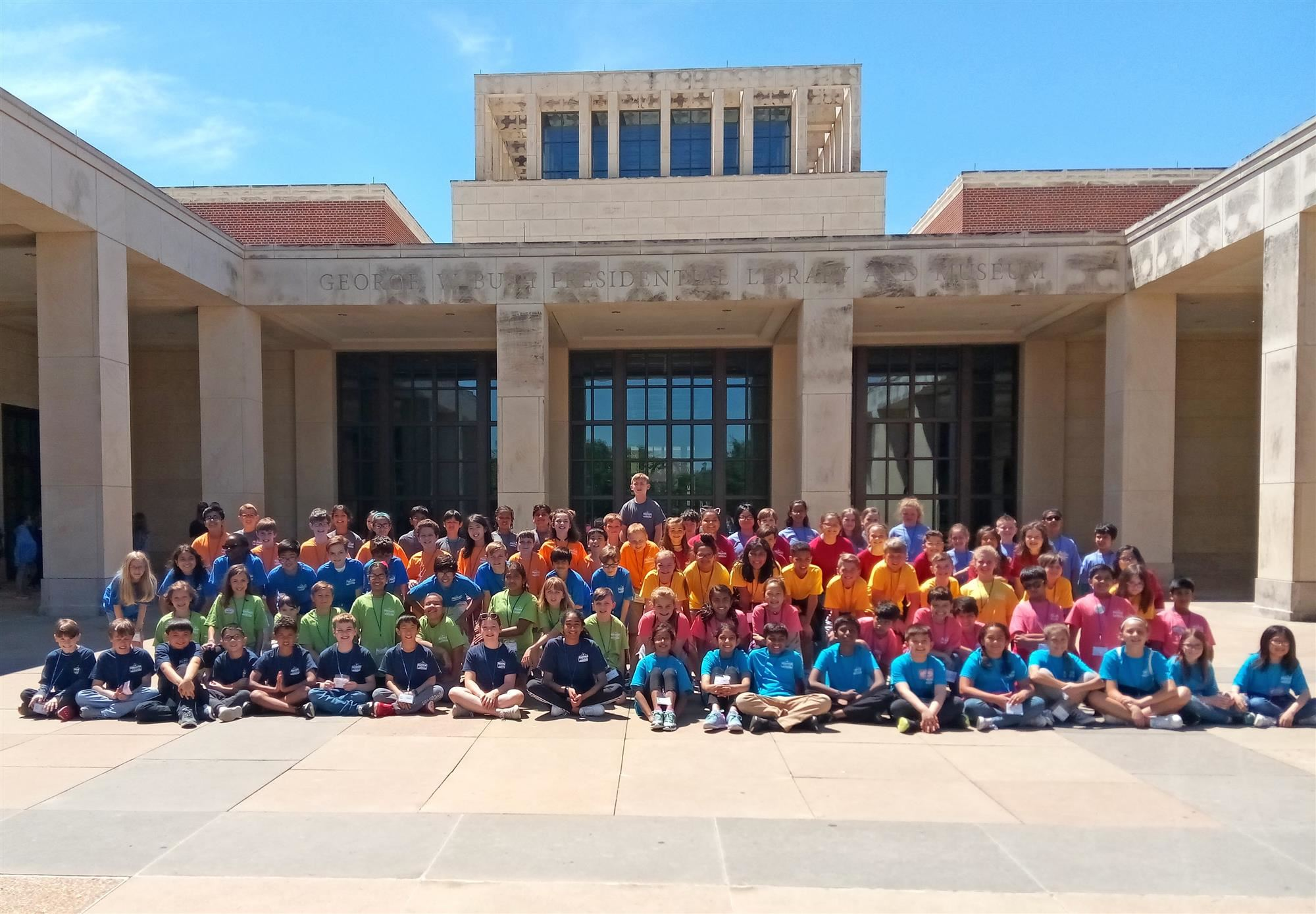 Bluebonnet Elementary fifth graders experience the three branches of government on an Education in Action Discover Texas