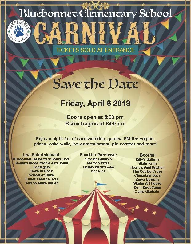 Save the Date for the Carnival!