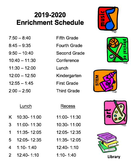 2019-2020 Enrichment Schedule