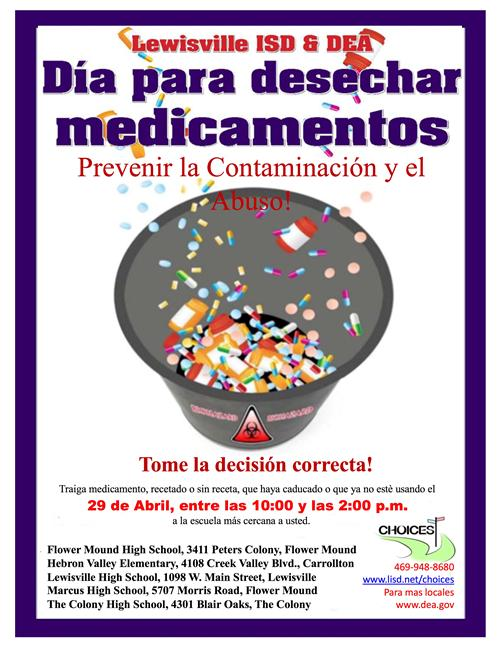Medication Disposal Day - Spanish